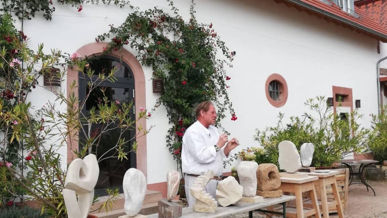 Steinseminar 2021 mit Bildhauer Joachim Kreutz